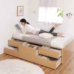 セミシングル2段収納ベッド