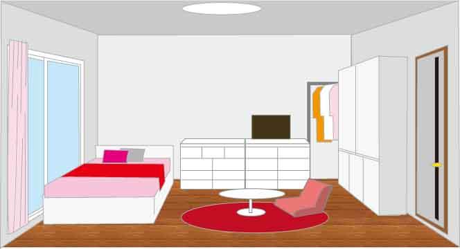 180cmセミシングルホワイトベッド