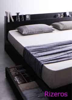 収納付ベッド、クイーン