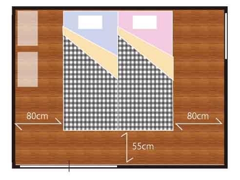 シングルサイズベッド2台
