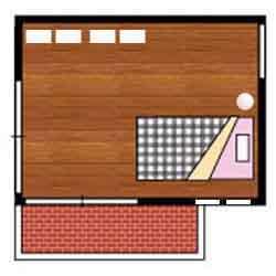 収納ベッド6畳配置