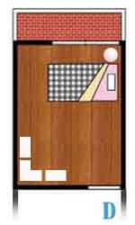 収納ベッドシングルの配置例