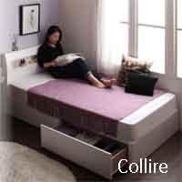セミシングルチェスト付き収納ベッド