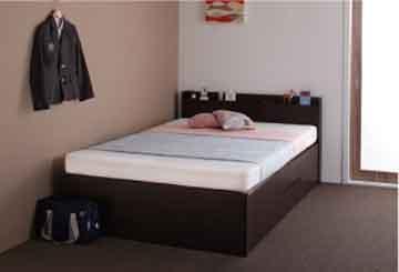 セミシングルショート収納ベッドの配置