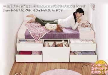 ショートベッドの配置