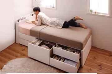 ベッドの位置ぴったり配置