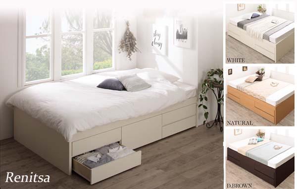 わんるーむにおすすめ2段チェスト収納ベッド