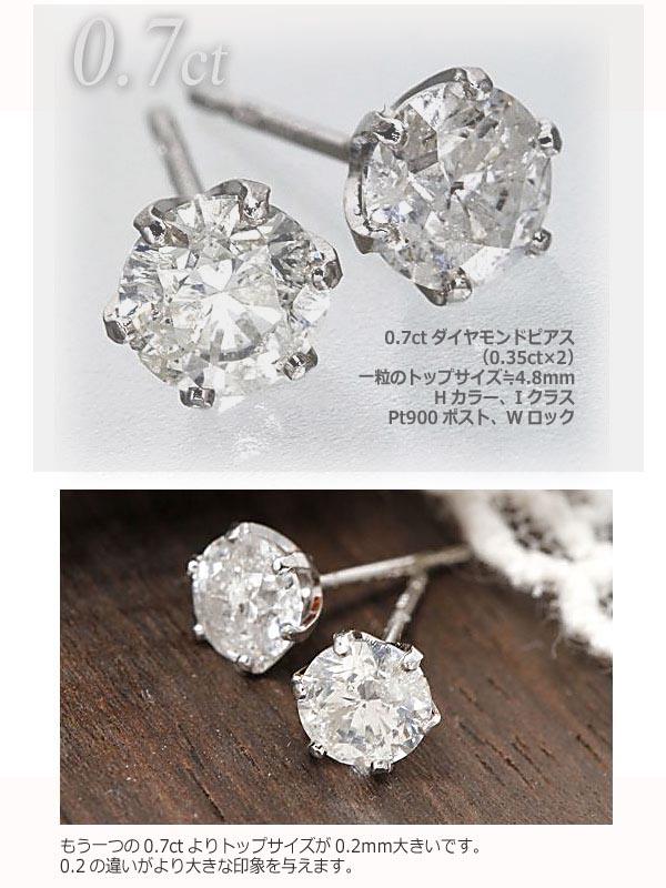 0.7ctダイヤモンドピアス¹