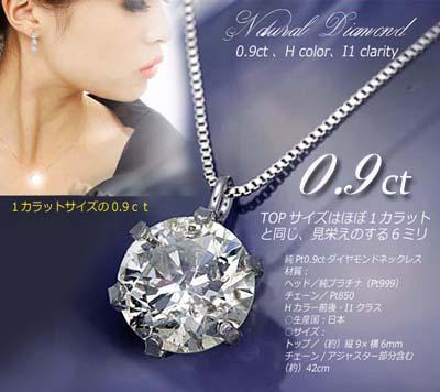1カラットダイヤネックレス0.9