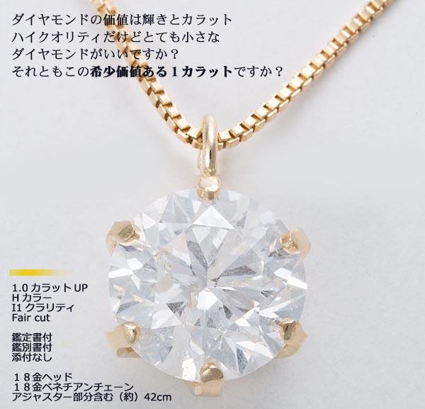 1カラットダイヤモンドネックレス