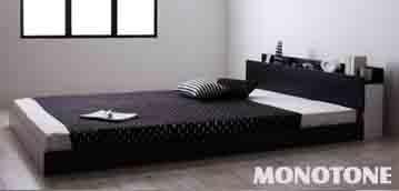 白黒モノトーンベッド