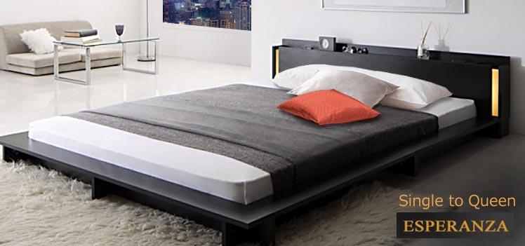 シングル2台の夫婦のベッド