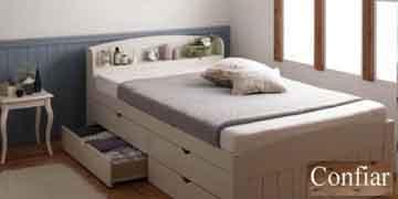 引出し付き収納ベッドショートサイズ
