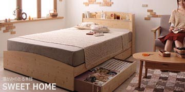 引出し付き収納ベッド激安3万円台