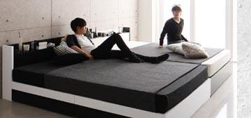 4人家族の連結ベッド、ファミリーベッド
