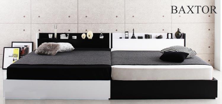 シングル2台連結ベッド