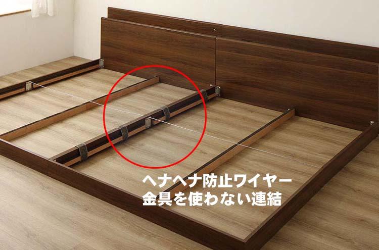 自信作の連結ベッド200