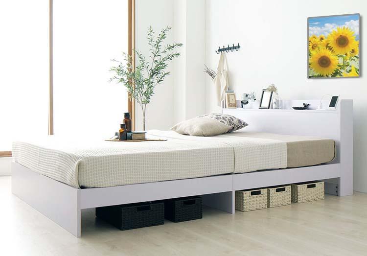 シングルキャスター付き収納ベッド