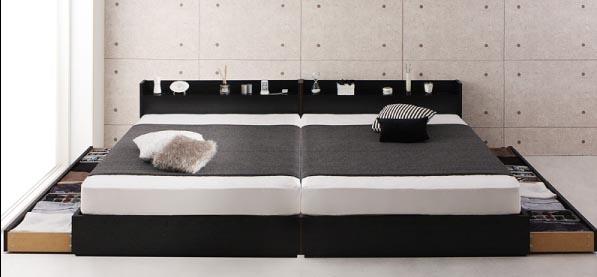 シングル2台連結ベッド、200cmワイド